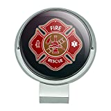 #5: Graphics and More Firefighter Fire Rescue Maltese Cross Golf Hat Clip With Magnetic Ball Marker