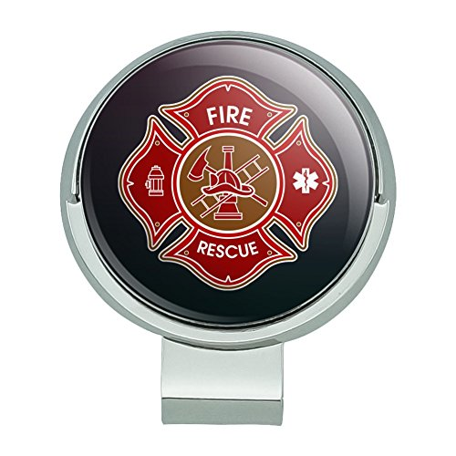 (GRAPHICS & MORE Firefighter Fire Rescue Maltese Cross Golf Hat Clip with Magnetic Ball)