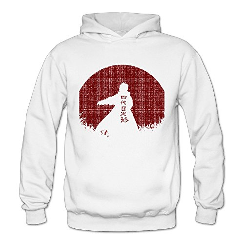 Vintage Red Moon Naruto Classic Women's Hooded Sweatshirts White -