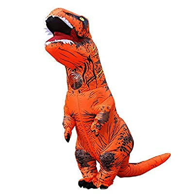 BIGPETS Inflatable Adult Dinosaur Costume T-Rex Cosplay Suit Fancy Dress Halloween (Brown)