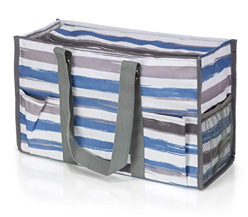 (All Purpose Utility Tote Bag (Brushed Stripes) )