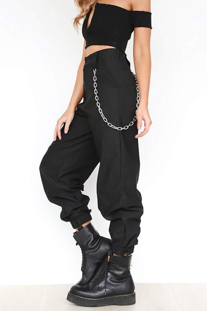 X Xya Pantalones De Carga Para Mujer Pantalones De Hiphop Punk Jogger Sport Harem A S Pantalones Mujer