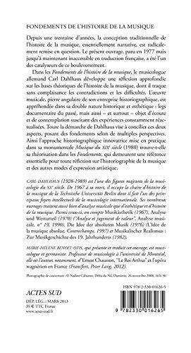 Fondements De L Histoire De La Musique Carl Dahlhaus Ɯ¬ ɀšè²© Amazon