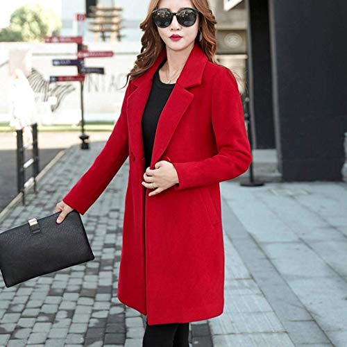 Revers Trench Classique Parker Haute Button Rouge Femme De Longues Automne Longues Coat Young Unicolore Mode Slim Fit Printemps Qualit Outerwear Casual Manteau Styles Manches H4Hrq