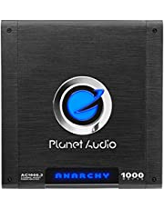 Planet Audio AC1000.2 Anarchy 1000 Watt, 2 Channel, 2/4 Ohm Stable Class A/B, Full Range, Bridgeable, MOSFET Car Amplifier with Remote Subwoofer Control