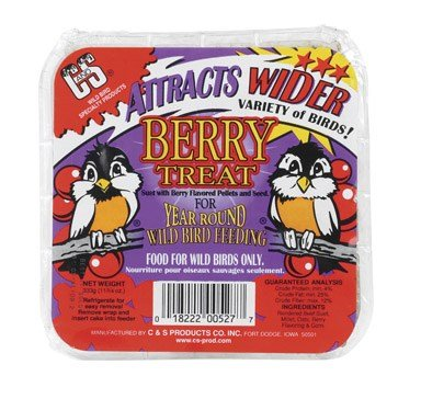 C&S CS12527 11.75 Oz Berry Treat Suet