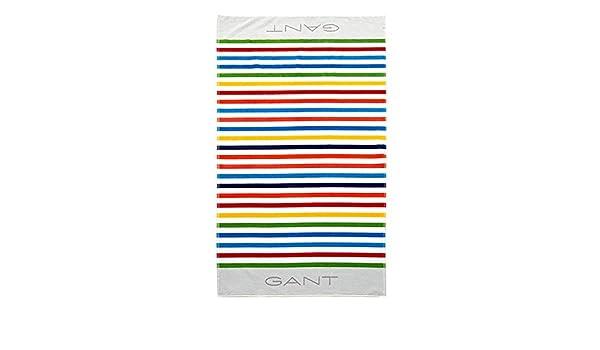 GANT Home Shelter strandlaken, 100 % algodón, blanco, 100 x 180: Amazon.es: Hogar