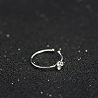 Crystal Rhinestone 1PC Nose Ring Bone Stud Surgical Steel Body Piercing Jewelry