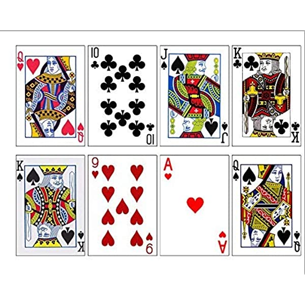A Full suit of playing cards CLUBS edible icing sheet