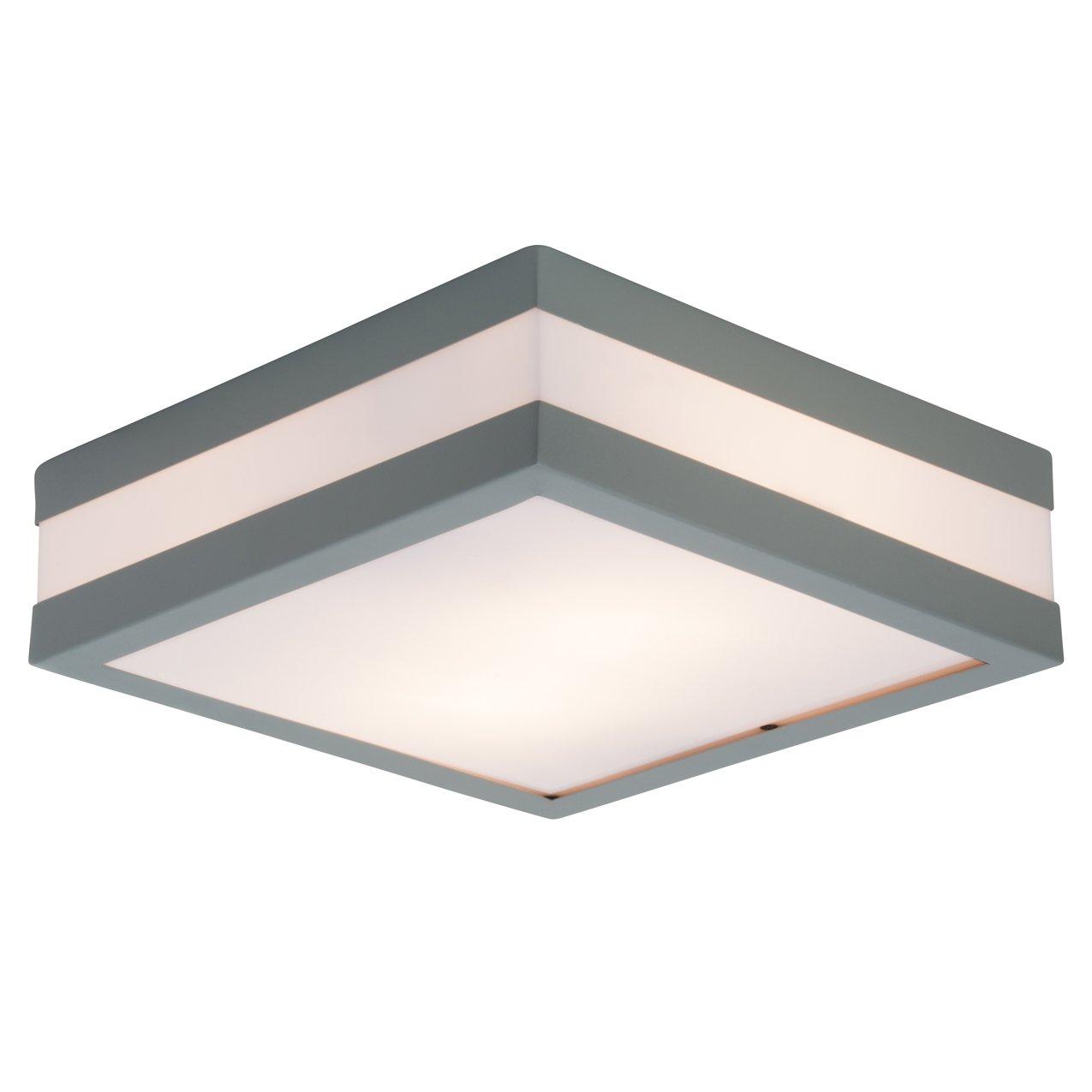 Brilliant Matteo Außendeckenleuchte Wandleuchte 29x29cm 29x29cm 29x29cm spritzwassergeschützt grau weiß, 2x E27 geeignet für Normallampen bis max. 11W 0ae50b