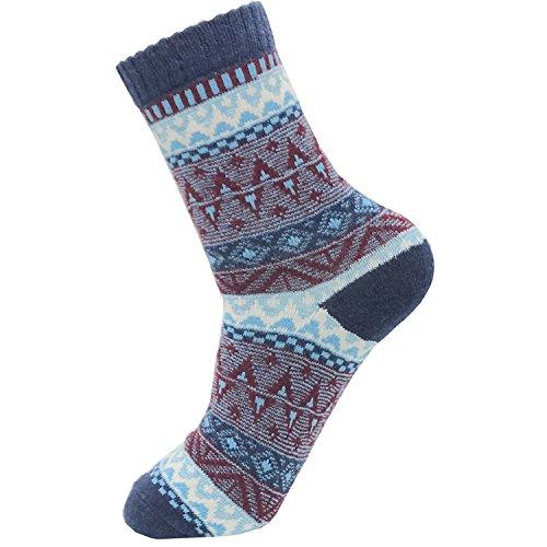 Womens Fun Crew Cozy Comfy Warm Winter Boot Socks For Women Casual Wool Socks