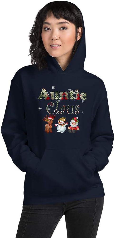 Womens Auntie Claus Santa Christmas Family Matching Unisex Hoodie