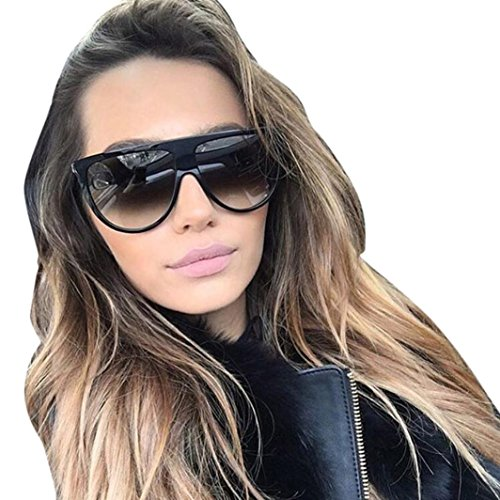 (Inverlee Sunglasses Fashion Unisex Vintage Shaded Lens Thin Glasses Fashion Aviator Sunglasses (D))