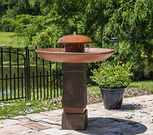 Kenroy Home 51026WDGCOP Oswego Floor Fountain with