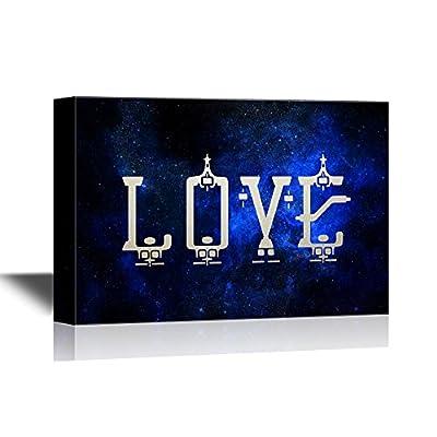 Top Quality Design, Astonishing Design, Love on Night Sky Background