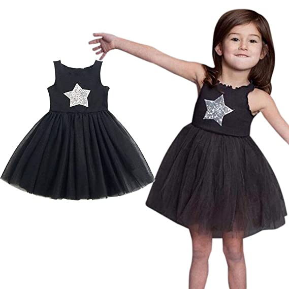 0e8bf6f77bbe6 Zyyuk, Girls Dress Wedding Party Birthday Star Sequins Lace Floral ...