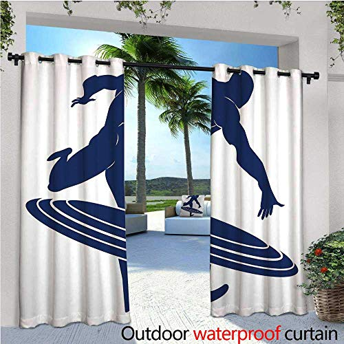 Superhero Outdoor Privacy Curtain for Pergola Muscle Man