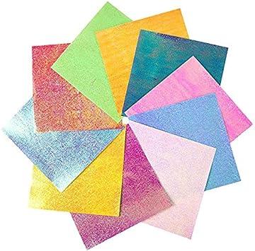 50Pcs Set Bunt Origami Papier Doppelseitig Farbiges Origami Faltpapie