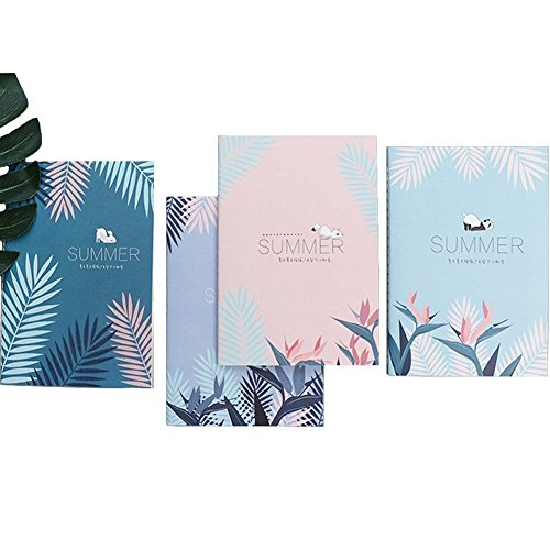 Summer Notepad (XDOBO B5 Series Cute Softcover Notebooks/Journals/Diary Unique designed Notepad Agenda Pads for student ,Stitched Binding, 4 Different Designs Stationery Notepad (Set of 4) (Summer))
