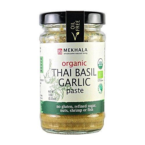 (Mekhala Organic Gluten Free Thai Basil Garlic Paste 3.53oz)