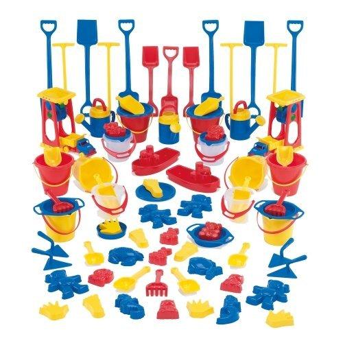Dantoy Sandspiel Sortiment, Kiga Packung, 82-teilig - Sandspielzeug Strandspielzeug