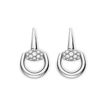d5dbd5f9d GUCCI HORSEBIT 18KT WHITE GOLD & DIAMONDS earrings YBD356997001: Amazon.co. uk: Jewellery