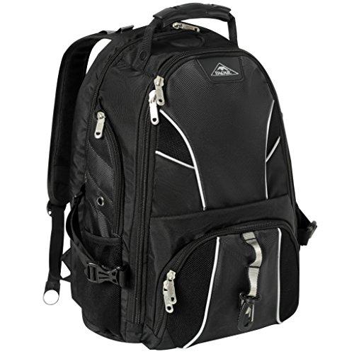 Bagail Laptop Backpack TSA Friendly ScanSmart 17-Inch School Computer Bag Black phosphor strip