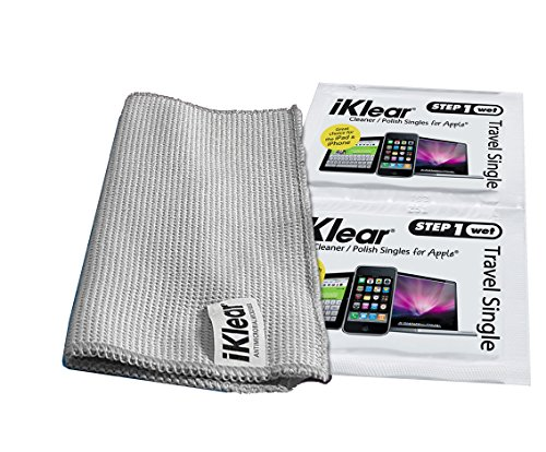 iKlear TS-100 Travel Singles, 200 Wet Wipes With Microfiber Polshing Cloths by iKlear