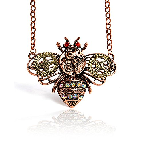 b18a9f591967f Joji Boutique Steampunk Collection: Mix-Tone Bumble Bee Pendant Necklace