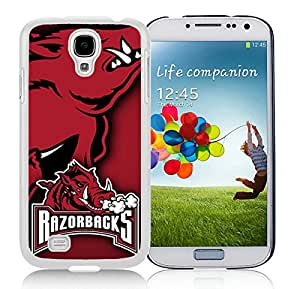 Samsung Galaxy S4 Southeastern Conference SEC Football Arkansas Razorbacks(1) White Screen Cellphone Case Personalized and Unique Cover