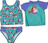 Toddler Girl Little Mermaid Rash Guard Set
