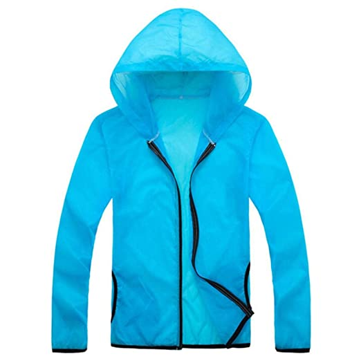 Sunhusing Mens Summer Outdoor Beach Sports Hooded Long Sleeve Sun Protection Cover up