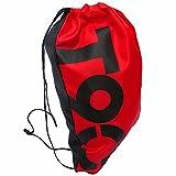 Cheap WNOSH Drawstring Backpack School Shoulder Bag Waterproof Beach Swimming Bag Pouch (Red T)