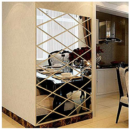 Hot Sale Besde Wall Decoration Acrylic Mirrored Decorative Sticker Room Decoration DIY Wall Art Home Decor (Silver, A)]()