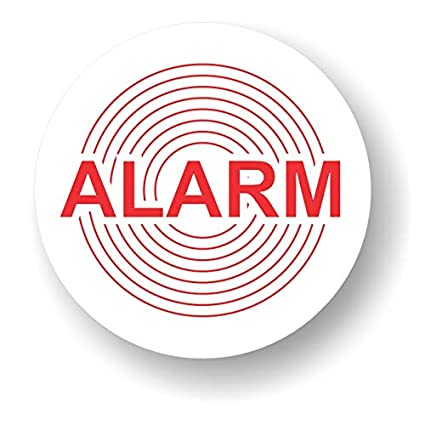 Decooo.be Pegatinas autoadhesivas disuasorias (calidad exterior, resistente a la lluvia y los rayos UVA, redondas, 45 mm), diseño con el texto Alarm - ...