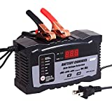 Aoprofree Battery Charger Auto-Voltage Detection, 2Amp 6Amp Lead Acid Battery Float Charger Maintainer