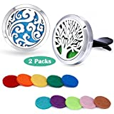 essential oil car diffuser - Car Fragrance Essential Oil Prume Diffuser Vent Clip Tree of Life & Cloud Set