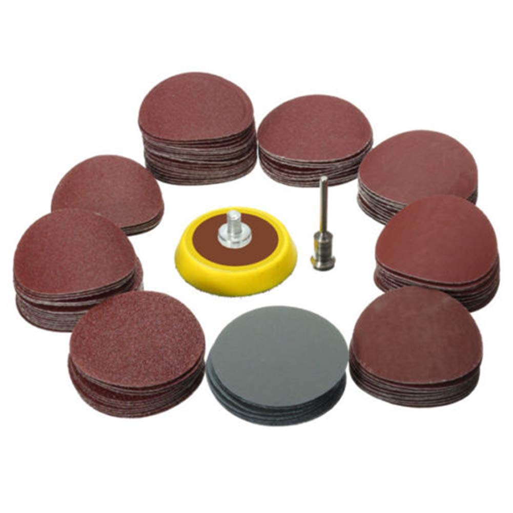 NANAD Sandpaper+Grinding Disc Set 1 Inch Flexible Pads Mini Rotary 1//8 Power Kit Cleaning Polishing Tool Grit Accessories Drill