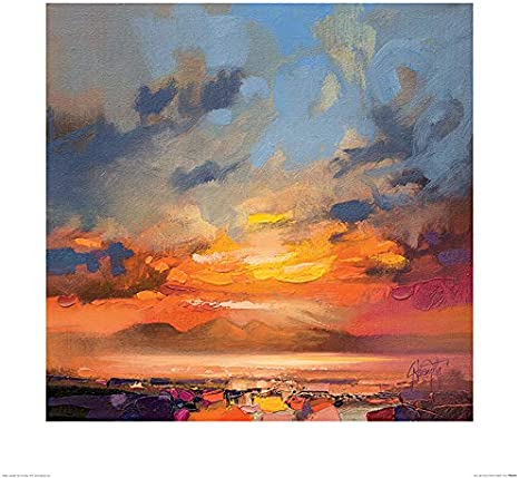 El Arte Grupo Scott Naismith (Ron luz Estudio) – Lámina Decorativa (60 x 60 cm, Papel, Multicolor, 60 x 60 x 1,3 cm