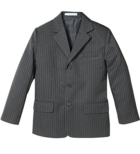 Spring Notion Big Boys' Pinstripe Blazer 08 Medium Grey