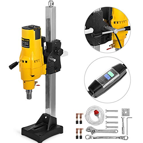 Happybuy 205MM 8 Inch Diamond Drilling Machine 110V 700RPM 3800W Diamond Core Drilling Machine Core Drill Rig Concrete Drilling Machine Wet Dry Concrete Brick Block (Drill Bit Diameter:4.25″/108MM)