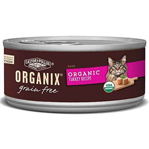 Organix Turkey Pate Recipe For Adult Cats, 5.5-Ounce Cans (Pack Of 24)