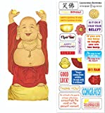 Laughing Buddha Quotable Notable - Die Cut Silhouette Greeting Card and Sticker Sheet
