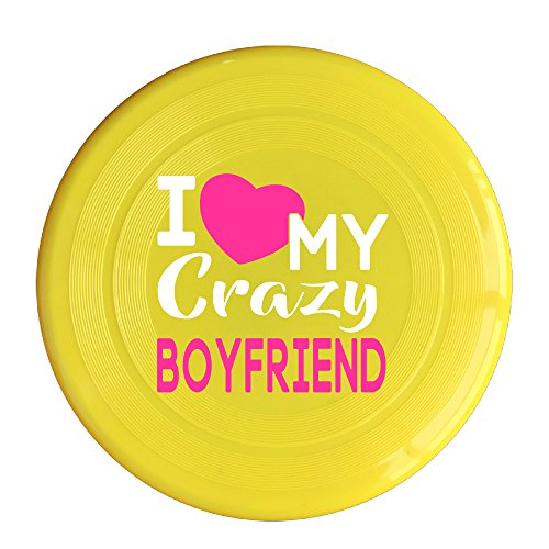 Uhouq I Love My CRAZY BOYfriend Flying Saucer Size One Size Yellow