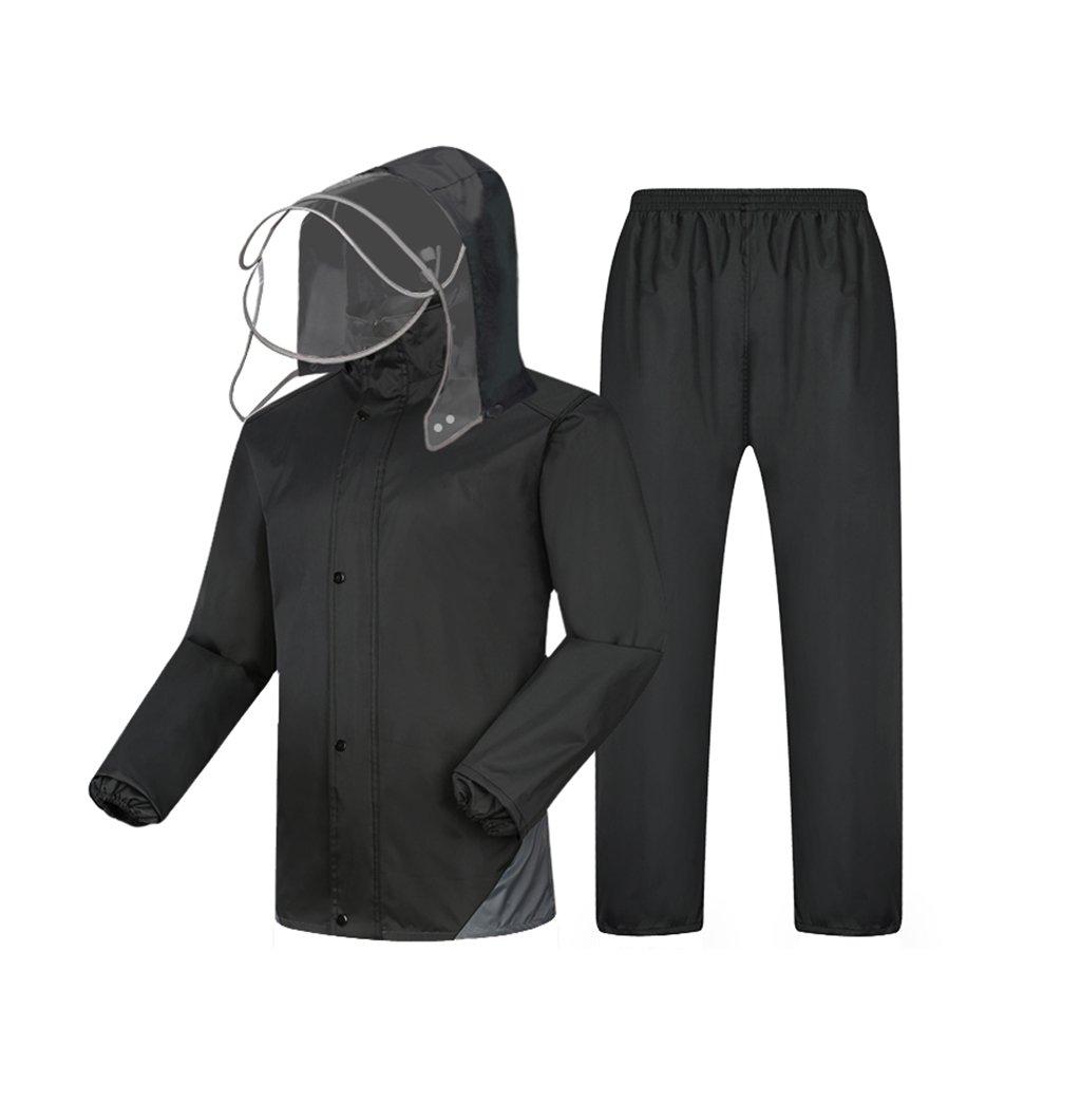 WQ-Regenjacken Einzelner männlicher und weiblicher aufgeteilter Regenmantel-Erwachsene Reitregen-Hosen-Satz kann wiederverwendet wiederverwendet wiederverwendet Werden (Farbe   schwarz, größe   XXXL) B07FD6T34N Jacken Eigenschaften 3305bb