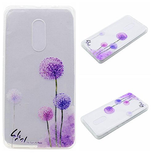 Qiaogle Teléfono Caso - Funda de TPU silicona Carcasa Case Cover para Apple iPhone 6 / iPhone 6S (4.7 Pulgadas) - MM07 / Bonjour Paris MM06 / Púrpura Diente de león
