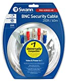 Swann 60m/200ft BNC wide compatibility 960H/AHD/TVI Surveillance Camera, cable (SWPRO-60MTVF-GL)