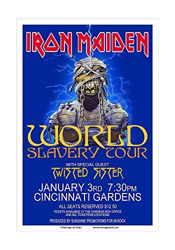 - Raw Sugar Art Studio Iron Maiden 1985 Cincinnati Concert Poster