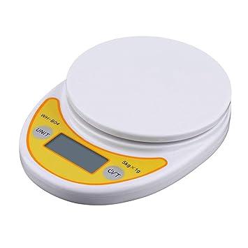 WH-B04 5kg / 1g LCD Display Digital Electronic peso Home Kitchen Scale para Food Balance Básculas de pesaje: Amazon.es: Bricolaje y herramientas