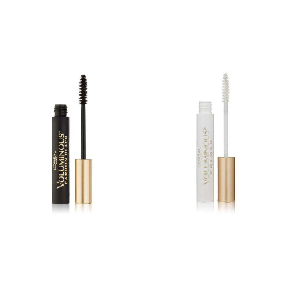 L'Oreal Paris Makeup Voluminous Lash Primer & Voluminous Original Carbon Black Mascara 2 Count